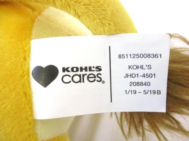 Lion Kohl's Cares Carnivores Kids Plush Stuffed Animal Toy New with Tags