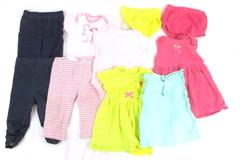 Lot of 5 Baby Girl Infant Size 6 to 9 Months Outfits Tops Bottoms Carters CK