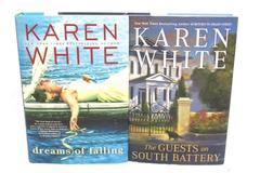 Lot of 2 Karen White Guest on South Battery Dreams of Falling Hardcover Novels