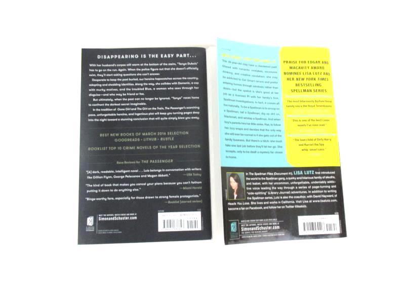 Lot of 2 Lisa Lutz Paperback Novels The Passenger 2016 Spellman Files 2007