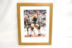 1980s Celtics Bill Walton Photo Signed Framed 16 x 13in