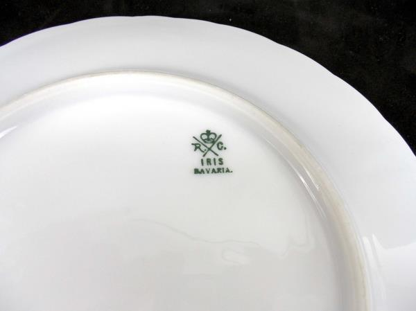 Lot of 3 Antique Collector Plates Green Floral Bareuther Hutschenreuther Iris