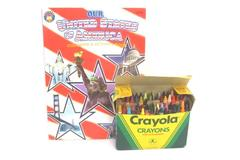Box of 64 Crayola Crayons with Our United States Of America Color Activity Book