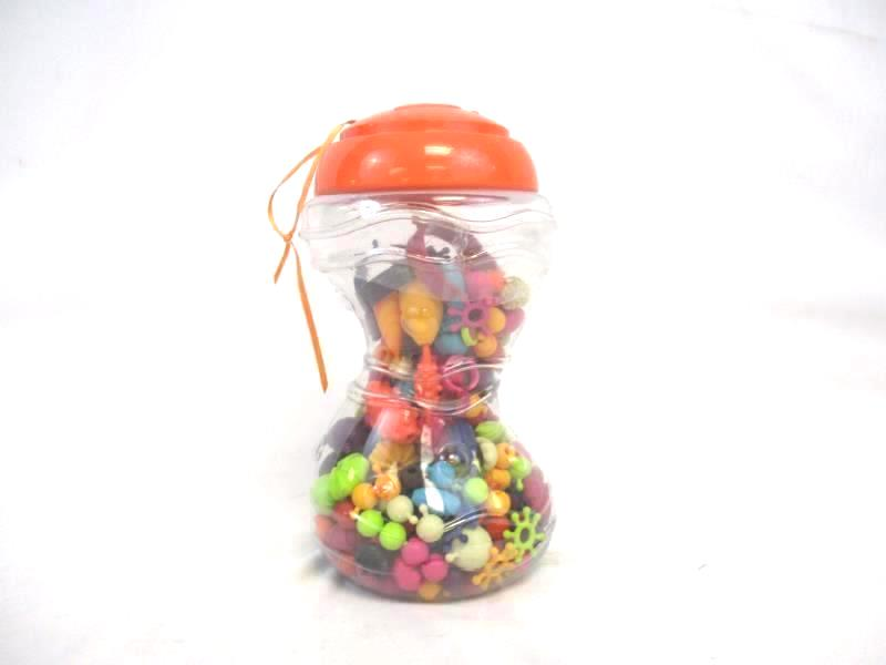Jar of Snap Lock Beads Jewelry Making Parts For Children Rings Bracelets Earring