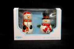 Boston Warehouse Snowman Salt And Pepper Shaker Set 91063