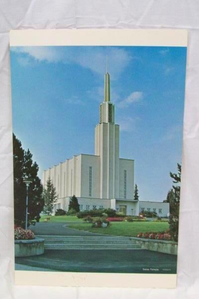 """Lot Of 4 Lithographs Of Mormon Temples LDS 17"""" x 11"""" Swiss,London, And Other"""