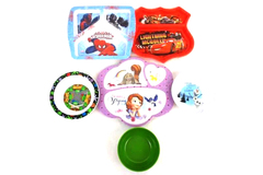 Lot of 9 Children's Dishes Plates Bowls Marvel Disney Frozen