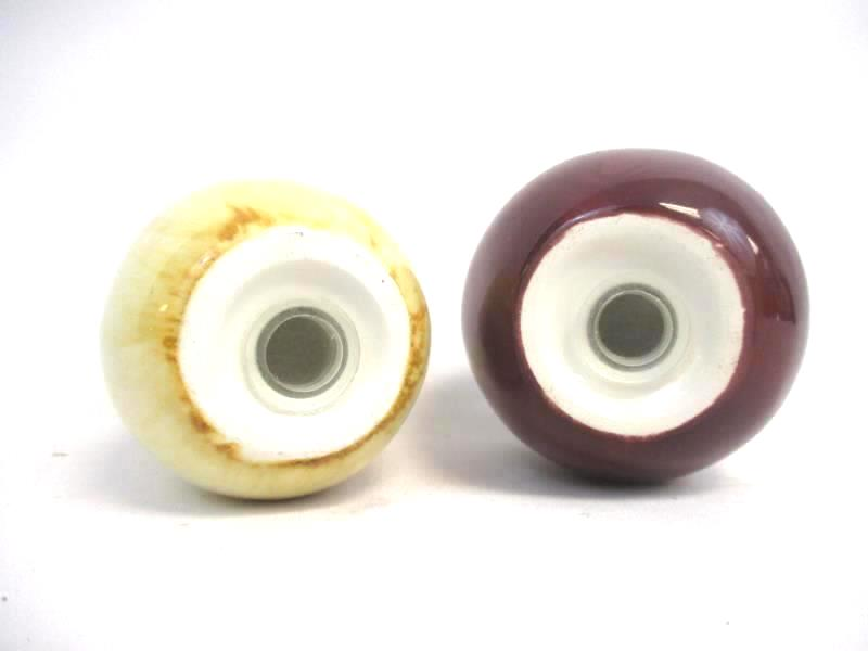 Pair of Ceramic Apple And Pear Salt and Pepper Shakers