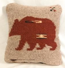 100% Wool Small Pillow Zapotec Make A Wish Bear Mexico Southwest Handmade