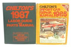 Lot of 2 Chilton Repair Manuals Import Car 1985 Labor Guide And Parts 1987