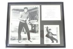 Elvis Presley Jail House Rock Framed Double Matted Photo Collage 11 x 14in