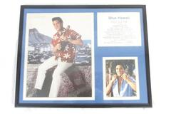 Elvis Presley Blue Hawaii Framed Double Matted Photo Collage 11 x 14 in Color