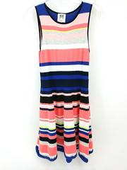 Milly Minis Sweater Dress Sleeveless Colorful Striped Girls Size 14