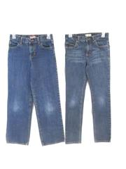 Lot of 2 Old Navy Boy's Jeans Blue Denim Regular Super Skinny Size 14