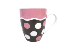 Divinity Coffee Tea Mug Ephesians 5:2 Live A Life With Love Brown Pink Dots