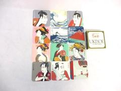 Set of 12 Ukiyoe Fine Art Coasters Japan Sharaku Kitagawa Utamaro Ando Hiroshige