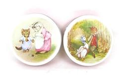 Two Huntley Palmers Biscuit Tins Beatrix Potter Tom Kitten Jemima Puddle Duck