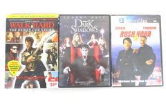 Lot of 3 Comedy Drama Action DVDs Rush Hour 2 Dark Shadows Walk Hard Dewey Cox