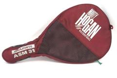 Vintage Marty Hogan Racquetball Graphite ASM 31 Racquet Racket w/ Case Burgundy