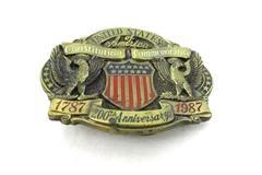 U.S. Constitution Commemorative Brass Belt Buckle LE Great American Buckle Co.