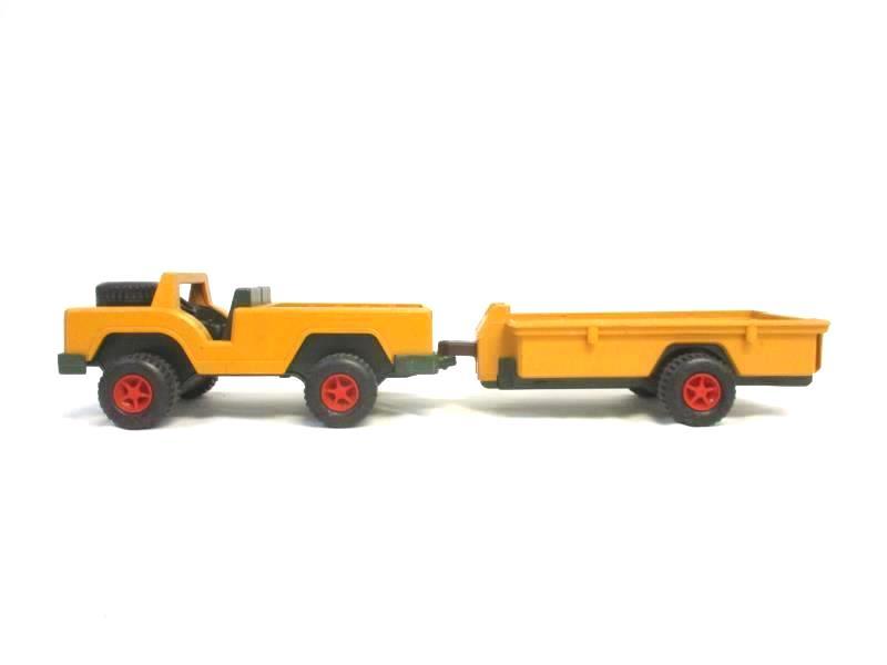 1975 Fisher Price Toys 304 Safari Jeep Truck and Trailer