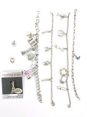 Sterling Silver Charm Bracelet Lot Vintage and Contemporary New York Paris Music