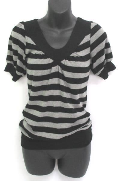Women's Outfit Bozzolo Knit Top Sz S Liz Claiborne Audra Slacks Sz 4 Black Gray