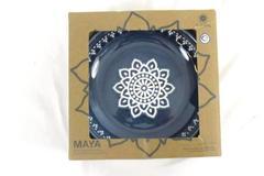 Set of 4 TarHong Maya Stoneware Low Bowls Blue White Floral COPPSB5083BB NIB