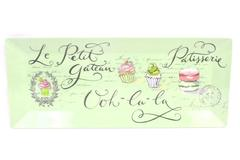 Grassland Melamine Serving Tray Mint Green 19.25 x 8 Inches La Petit Patisserie