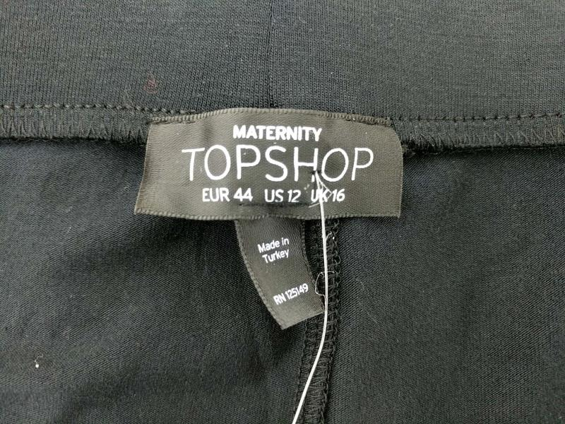 TopShop Maternity Leggings Black Stretch Knit Women's Size 12 New with Tags