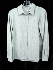 Uniqlo Button Down Shirt Gray Flannel 100% Cotton Mens XS