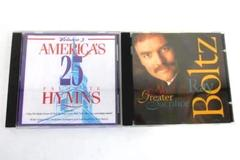 Lot of 2 Worship CDs America's 25 Favorite Hymns No Greater Sacrifice Ray Boltz