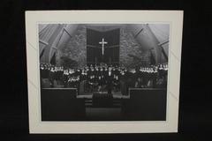 Vintage Black White Real Photo Church Choir Priest Men Women Religious 10X13
