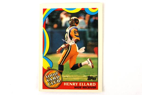 Lot of 5 Topps 1000 Yard Club Henry Ellard Los Angeles Rams #4 Football Card