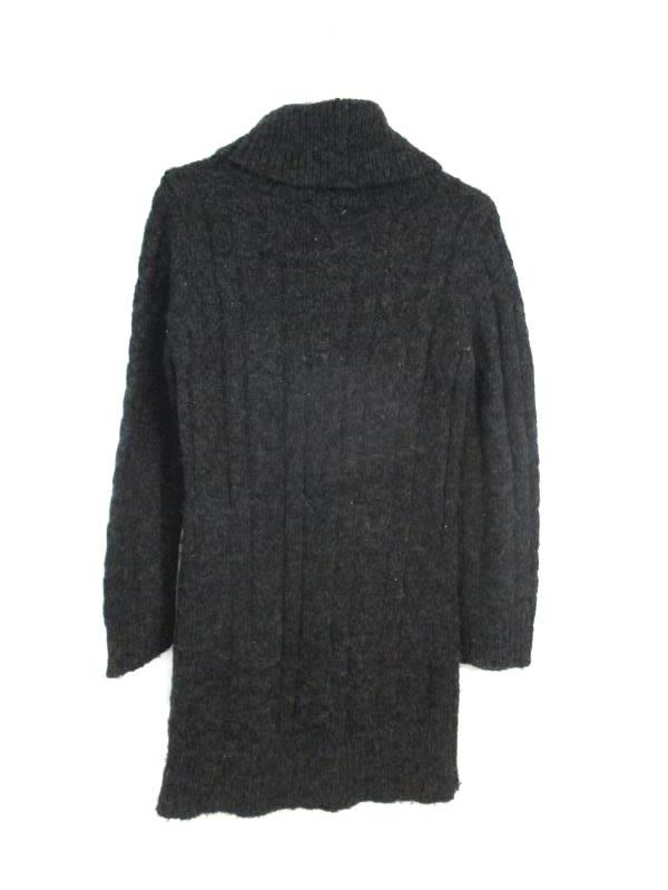 Vintage Carducci Women's Cowl Neck Sweater Dress Acrylic Wool Charcoal Size M