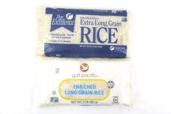 Lot of 2 Bags of Rice 2lbs Each Enriched White Grain Gulf Pacific Par Excellence