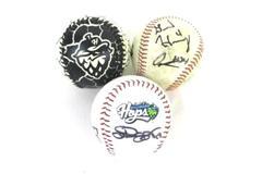 Lot of 3 Hillsboro Hops Minor League Baseballs with Player Autographs