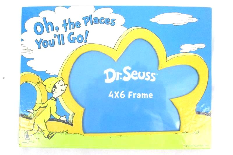 Dr. Seuss Photo Frame 4X6 Oh The Places You'll Go Freestanding Desk Table Shelf