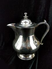 Reproduction Roswell Gleason 19th Century American Cider Pitcher Silver Plate