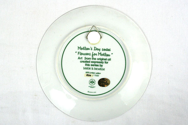1976 LIMITED EDITION Plate- Flowers For Mother by Leslie Demille