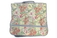 Leisure Vintage Canvas Travel Garment Bag Green Floral Multi Pocket Hanging