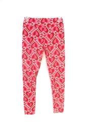 LuLaRoe OS One Size Leggings Buttery Soft Red Valentines Heart Print Pink Yoga