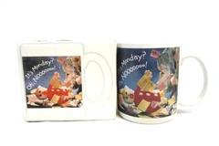 Hallmark Shoebox Greetings Cup Mug  Mr. Bill It's Monday? Oh, Noooooo!