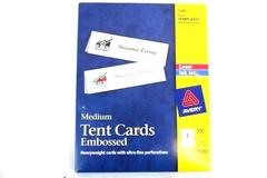 Avery Ink Jet  Laser Printer Medium Tent Cards Embossed White 5305