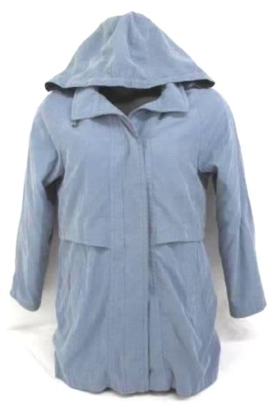 Women's Vintage Mulberry Street Coat Button In Lining Light Blue Size Small