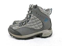 Columbia Liftop II Winter Boots Gray Waterproof Leather Quilted Womens Size 10