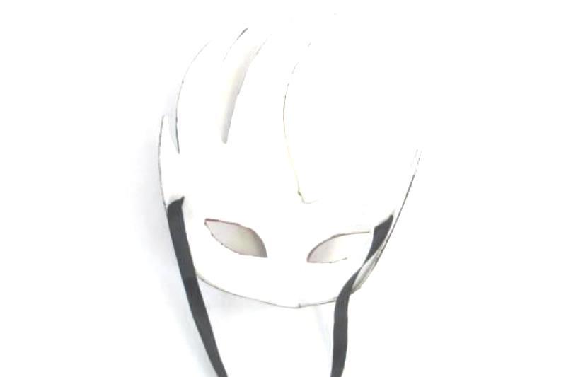 Decorative Eye Mask Plastic Ribbon Tie Mardi Gras Gold Phantom Opera