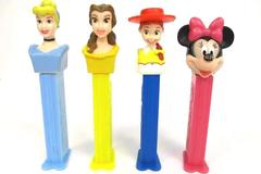 Lot of 4 Disney Pez Dispensers w/ Feet Minnie Cinderella Belle Jesse