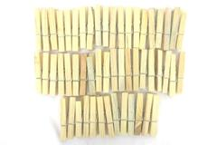 "50 ct Lot Vintage Wood Weathered Spring Wired Clothes Pins 3"" Craft Supply"