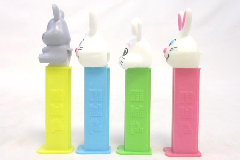 Lot of 4 Discontinued PEZ Dispensers Rabbit Bunny Easter